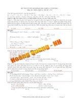 ĐỀ THI VÀ BÀI GIẢI TUYỂN SINH ĐẠI HỌC KHỐI A NĂM 2013 Môn thi : HÓA, khối A - Mã đề : 374 pdf