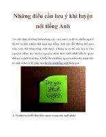 Những điều cần lưu ý khi luyện nói tiếng Anh docx