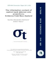 The information content of central bank interest rate projections: Evidence from New Zealand pot