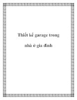 Thiết kế garage trong nhà ở gia đình potx