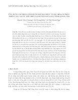 ỨNG DỤNG GIS TRONG ĐÁNH GIÁ ĐẤT ĐAI PHỤC VỤ QUI HOẠCH PHÁT TRIỂN CÂY CAO SU TIỂU ĐIỀN TẠI HUYỆN HẢI LĂNG TỈNH QUẢNG TRỊ pdf