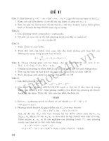 Tuyển Tập 45 Đề Ôn Thi Đại Học Toán 2013 - Đề 7 ppt