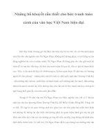 Những bổ khuyết cần thiết cho bức tranh toàn cảnh của văn học Việt Nam hiện đại docx
