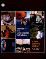 information and communication technologies a world bank group strategy ppt