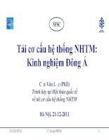 Tái cơ cấu hệ thống NHTM: một số vấn đề cơ bản docx
