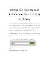 Hướng dẫn kiểm tra mật khẩu Yahoo, Gmail có bị lộ hay không doc