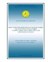 phân tích tình hình cho vay doanh nghiệp tại ngân hàng nông nghiệp và phát triển nông thôn việt nam chi nhánh an giang