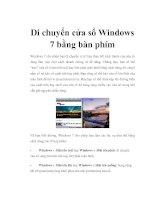 Di chuyển cửa sổ Windows 7 bằng bàn phím pot