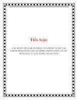 Tiểu luận: CÁC HÌNH THỨC KÍCH THÍCH TÀI CHÍNH VÀ PHI TÀI CHÍNH ĐỐI VỚI NGƯỜI LAO ĐỘNG TRONG CÔNG TY CỔ PHẦN ĐẦU TƯ XÂY DỰNG TRUNG NAM pdf