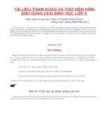 TÀI LIỆU THAM KHẢO VÀ THƯ VIỆN HÌNH ẢNH DÙNG CHO SINH HỌC LỚP 8