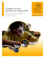 Guidance on the teaching of writing skills INSET opportunities for teachers of a subjects across the curriculum at Key Stages 2 and 3 docx
