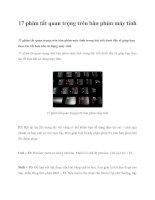 17 phím tắt quan trọng trên bàn phím máy tính pdf