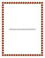 Đề thi học kì môn toán lớp 10 số 8 & 9 pdf