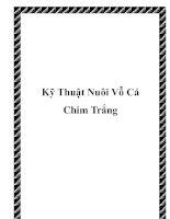 Kỹ Thuật Nuôi Vỗ Cá Chim Trắng doc