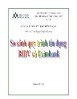 So sánh quy trình tín dụng BIDV và EXIMBANK