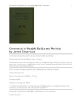 Ceremonial of Hasjelti Dailjis and Mythical Sand Painting of the Navajo Indians docx