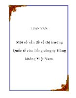LUẬN VĂN: Một số vấn đề về thị trường Quốc tế của Tổng công ty Hàng không Việt Nam doc