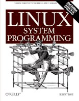 Linux system programming talking directly to the kernel and c library