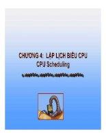 CHƯƠNG 4: LẬP LỊCH BIỂU CPU CPU Scheduling potx