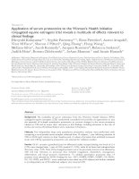 Application of serum proteomics to the Women's Health Initiative conjugated equine estrogens trial reveals a multitude of effects relevant to clinical findings pot