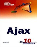 sams teach yourself ajax in 10 minutes (2006)