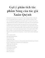 Gợi ý phân tích tác phẩm Sóng của tác giả Xuân Quỳnh pptx