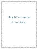 """Những bài học marketing từ """"Arab Spring"""" doc"""