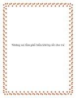 Những sai lầm phổ biến khi hạ sốt cho trẻ pdf