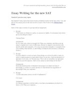 Essay Writing for the new SAT potx