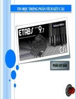 TIN HỌC TRONG PHÂN TÍCH KẾT CẤU - PHẦN CƠ BẢN THIẾT KẾ DÀN THÉP PHẲNG pdf