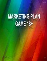 Tiểu luận:Marketing plan game 18+ docx