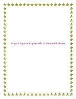 Bí quyết tuyệt vời để phát triển trí thông minh cho trẻ. docx