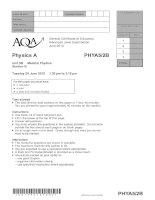 Vật lý A level: AQA PHYA5 2 b w QP JUN10