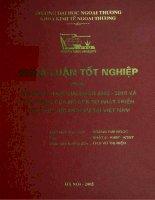 Cải cách thuế giai đoạn 2005 - 2010 và tác động của nó đến sự phát triển của khu vực dịch vụ tại Việt Nam