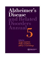 ALZHEIMER'S DISEASE AND RELATED DISORDERS ANNUAL doc