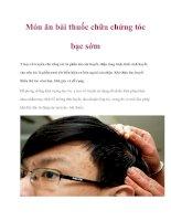 Món ăn bài thuốc chữa chứng tóc bạc sớm pdf