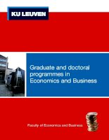 Graduate and doctoral programmes in Economics and Business doc