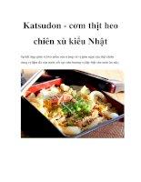 Katsudon - cơm thịt heo chiên xù kiểu Nhật docx