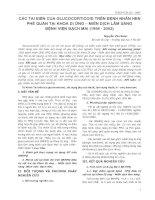 CÁC TAI BIẾN CỦA GLUCOCORTICOID TRÊN BỆNH NHÂN HEN PHẾ QUẢN TẠI KHOA DỊ ỨNG – MIỄN DỊCH LÂM SÀNG BỆNH VIỆN BẠCH MAI (1998 - 2002) potx