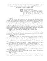 NGHIÊN CỨU ỨNG DỤNG MỘT SỐ BIỆN PHÁP TỔNG HỢP ĐỂ KÉO DÀI THỜI HẠN BẢO QUẢN CHO MỘT SỐ LOẠI RAU, QUẢ CÓ GIÁ TRỊ HÀNG HOÁ CAO Ở TỈNH BÌNH ĐỊNH pptx