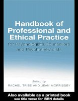 Handbook of Professional and Ethical Practice for Psychologists, Counsellors and Psychotherapists pptx
