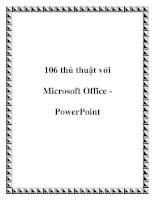 106 thủ thuật với Microsoft Office PowerPoint pdf