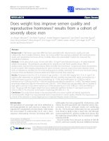 Does weight loss improve semen quality and reproductive hormones? results from a cohort of severely obese men doc
