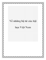 Về những bộ tứ của hội họa Việt Nam pot