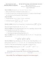 Tổng hợp đề thi thử ĐH môn Toán các khối Đề 12 potx