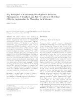 Gruber 2010 key principles for CBNRM - Nguyên tắc cơ bản của quản lí tài nguyên thiên nhiên dựa vào cộng đồng Tổng hợp và Giải thích xác định phương pháp tiếp cận hiệu quả về quản lí tài sản chung