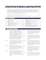 Nasa Hundred Rules for Project Managers docx