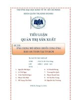 ỨNG DỤNG MÔ HÌNH CHUỖI CUNG ỨNG RAU AN TOÀN TẠI TP.HCM