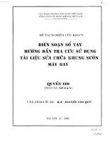 Biên soạn sổ tay hướng dẫn tra cứu sử dụng tài liệu sửa chữa khung sườn máy bay (quyển 2b) pdf
