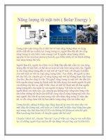 Năng lượng từ mặt trời ( Solar Energy ) docx
